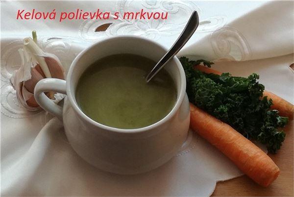 Kelová polievka s mrkvou