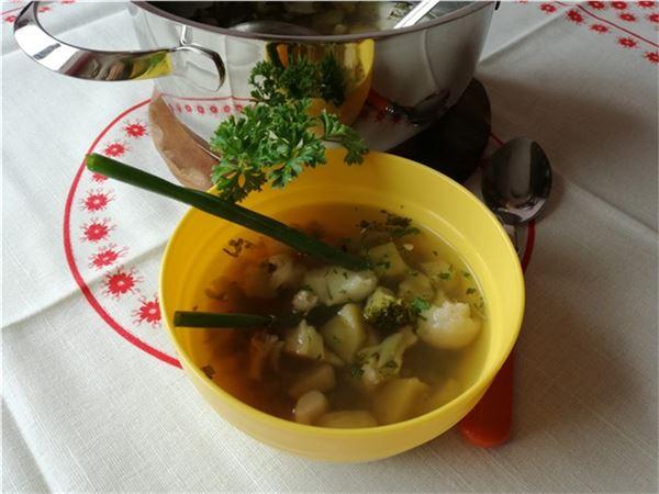 Brokolicovo-karfiolová polievka
