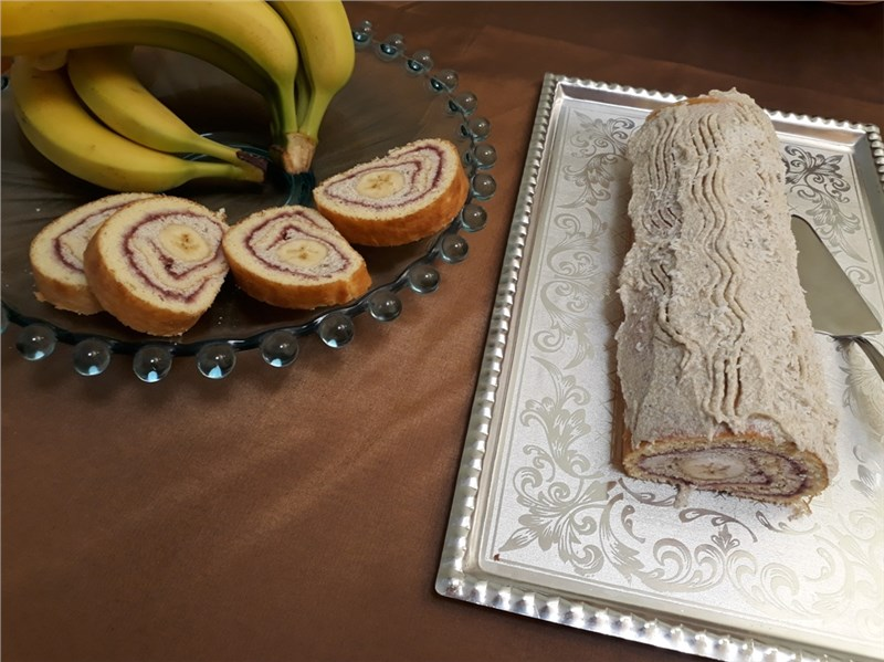 banánová roláda