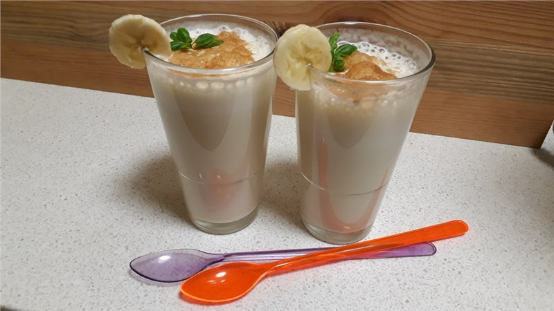 banánové mlieko