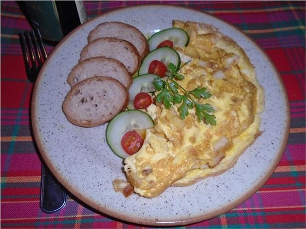 Omeleta s knedľou
