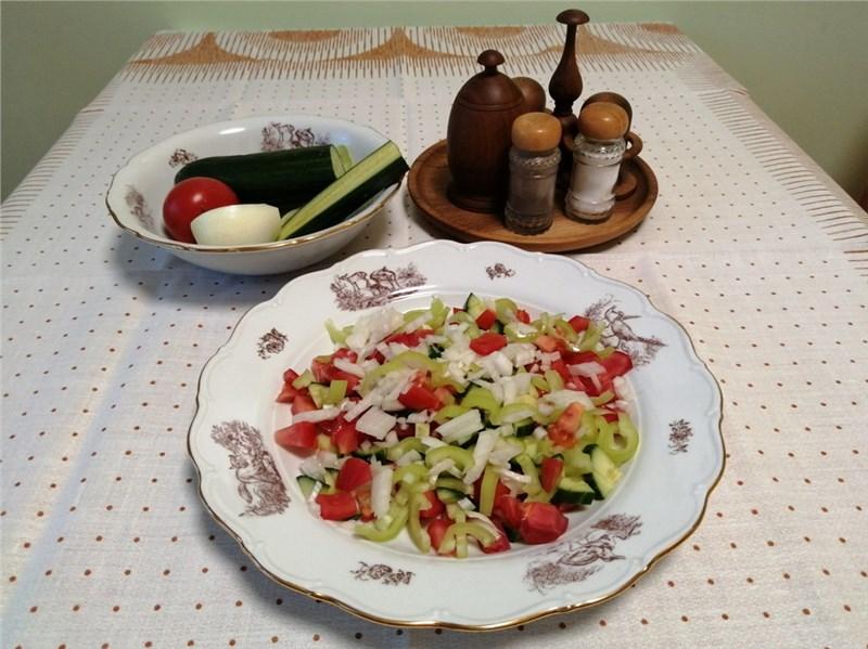 zeleninovy salat recepty
