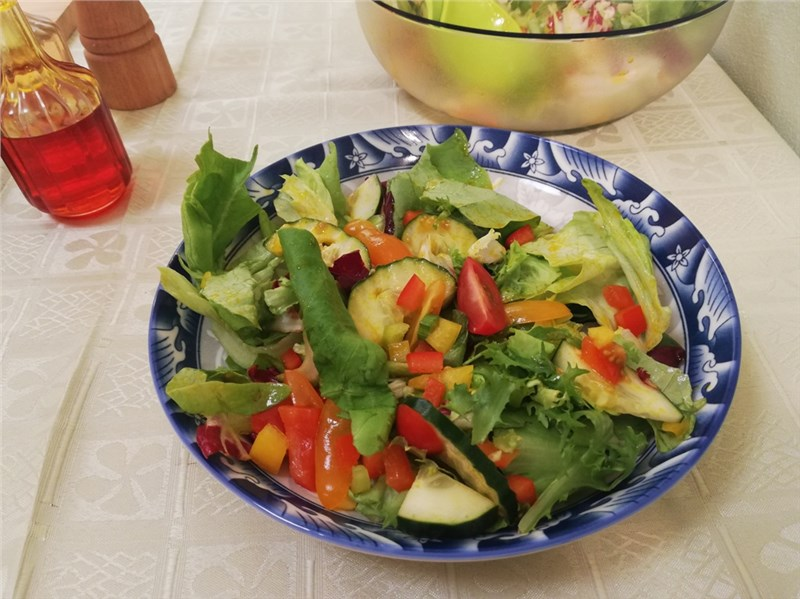 vegetariánske šaláty