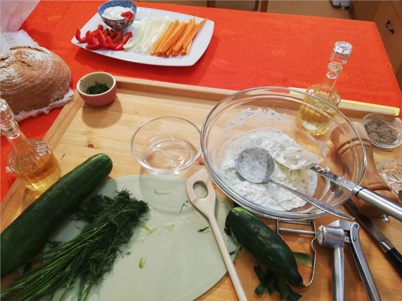 tzatziki zelenina