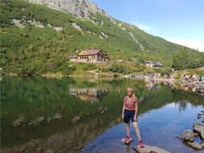 Zelene pleso turistika v horach