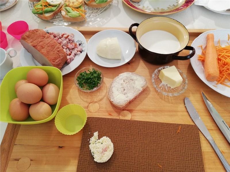 obložené chlebíčky postup