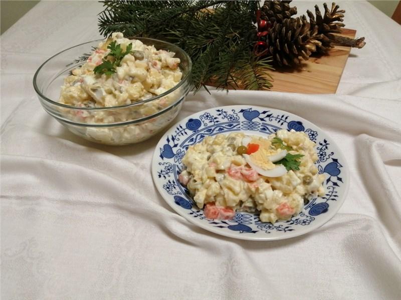 zemiakový šalát vianočné recepty