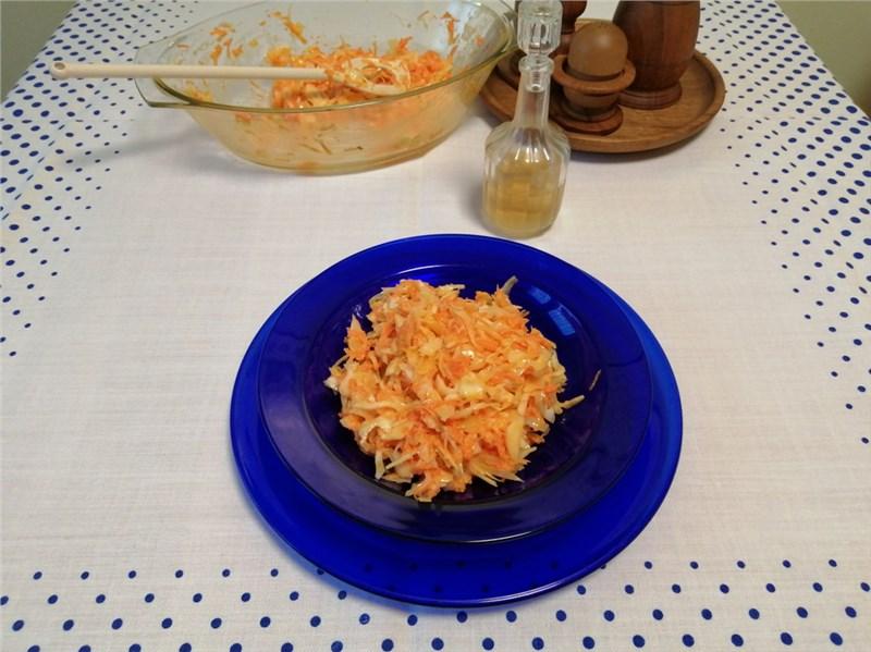 coleslav salat zeleninové recepty