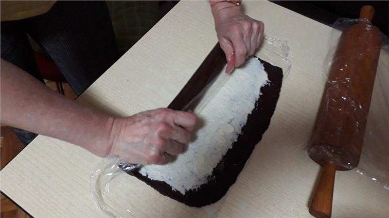 kokosová roláda valček