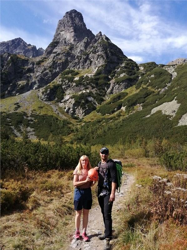 Zelené pleso a horolezci